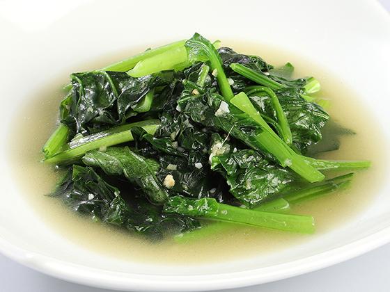 国産2種野菜の青菜炒め<br />〜スープ仕立て〜