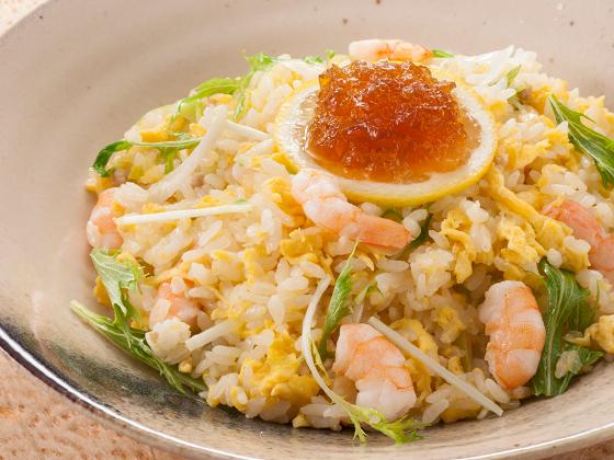 海老と水菜のあっさりチャーハン <スープ付き>
